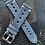 Thumbnail: Dark GRAY Leather Racing strap WHITE Stitch