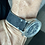 Thumbnail: Thick DARK GRAY Hardened Suede leather GRAY Stitch