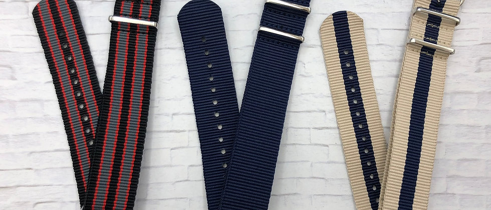 3 Pack 24mm NATO / ZULU Straps - Nylon