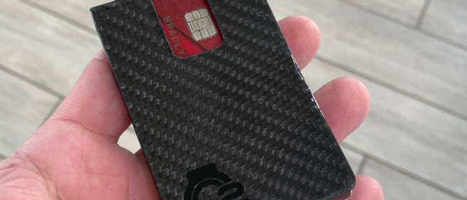 BLACK 100% real Carbon Fiber Minimalistic wallet