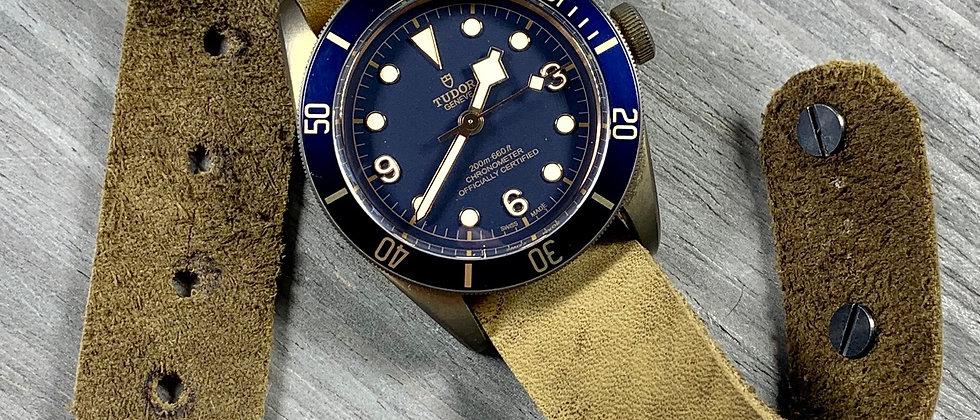 Top Grain Italian Nubuck Leather watch strap - high quality & new design