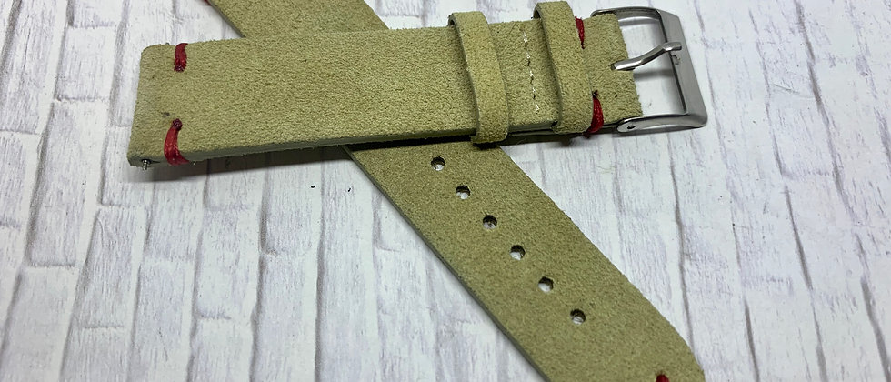 Vintage Suede Leather - Hand Made Tan