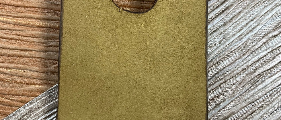 TAN Nubuck Italian Calfskin Leather Minimalistic wallet