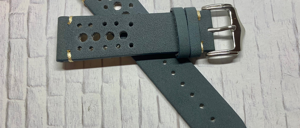 Gray Racing Vintage Leather - Hand Made