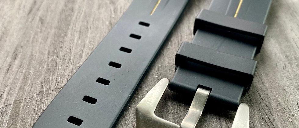 24mm Vulcanized Rubber strap for Panerai Luminor watches (GOLD)