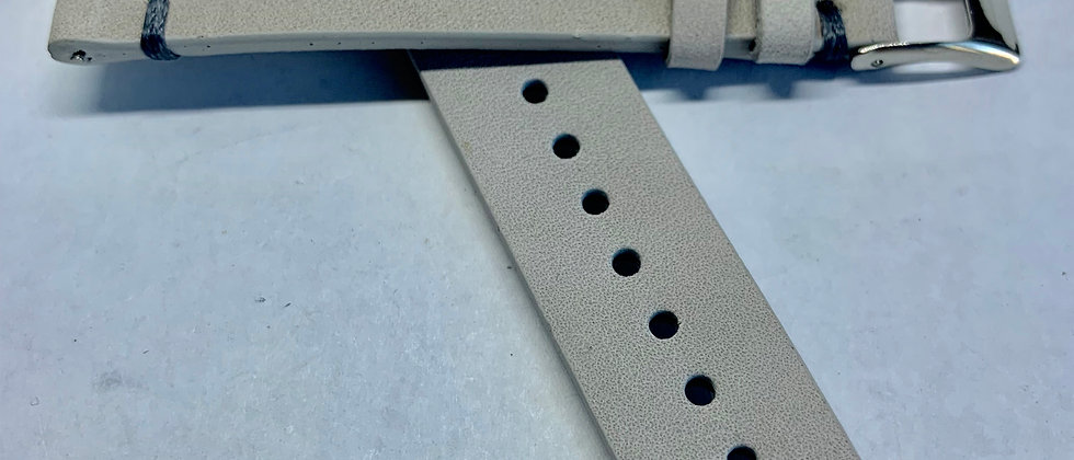 QR - Vintage Leather - Hand Made Gray Grey Strap