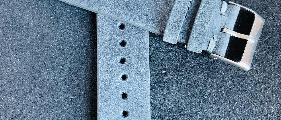 Dark GRAY Vintage Leather strap GRAY stitching