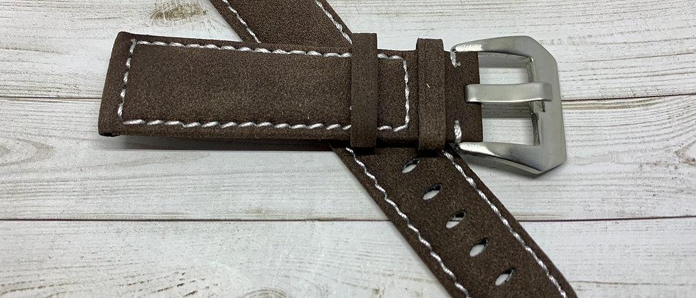 Mocha Suede Leather Strap