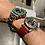 Thumbnail: Vibrant BROWN Strata strap with GRAY Stitch