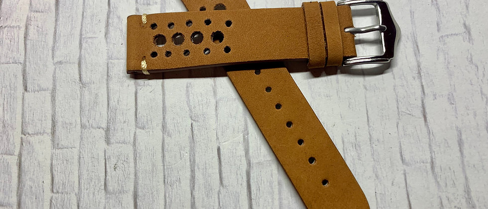 Leather Racing Strap - Hand Made Black