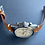 Thumbnail: 20mm Lt. BROWN crazy horse leather vintage strap WHITE stitch