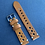 Thumbnail: 20mm Lt. BROWN Crazy Horse leather vintage racing strap WHITE stitch
