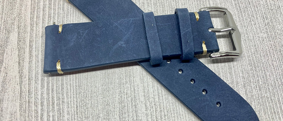 Vintage Leather - Hand Made Slate BLUE
