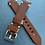 Thumbnail: 20mm BROWN Crazy Horse vintage leather strap WHITE stitch