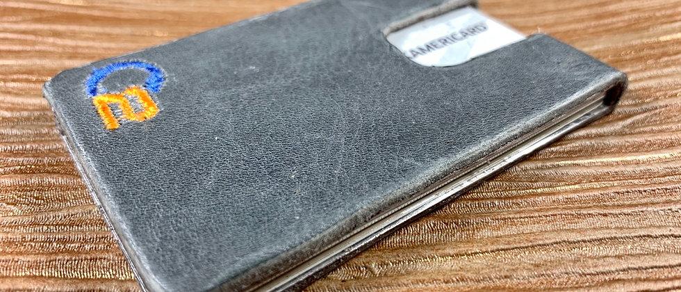 GRAY soft, Italian Calfskin Minimalistic Leather wallet