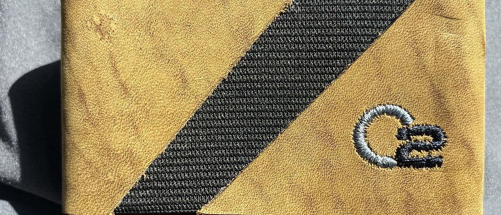 TAN & BLACK Nubuck Italian Calfskin Leather Minimalistic wallet