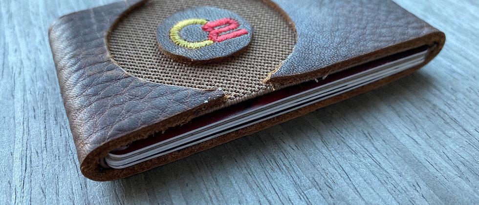 BROWN Italian Calfskin Leather Modern, Minimalistic wallet
