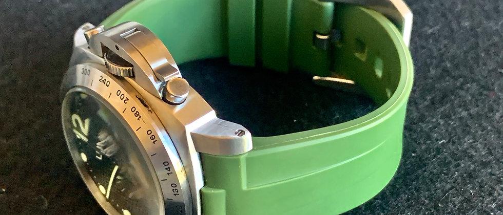 24mm Vulcanized Rubber Strap for Panerai Luminor - Perfect fit Green