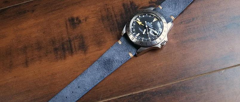 Rolex Tudor Bretling Tag Heuer Omega watch straps rubber leather Suede Vintage Brad Jackson