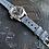 Thumbnail: Dark GRAY Leather racing strap lt. GRAY stitch