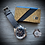 Thumbnail: TAN & BLACK Nubuck Italian Calfskin Leather Minimalistic wallet