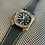 Thumbnail: 24mm BLACK Italian Leatjer bell Ross strap GOLD stitch