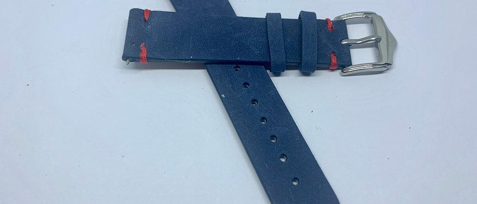 Blue Slate Vintage Leather - Hand Made