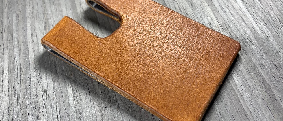 TAN Italian Leather Minimalistoc hamdmade Wallet