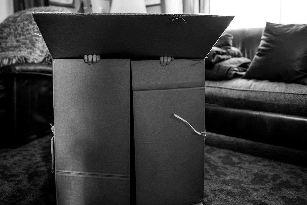 KId plays in box