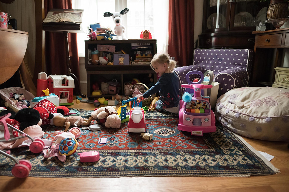 Little girl plays with toys in playroom, Kin and Kid Photography, Boston, Family Photographer