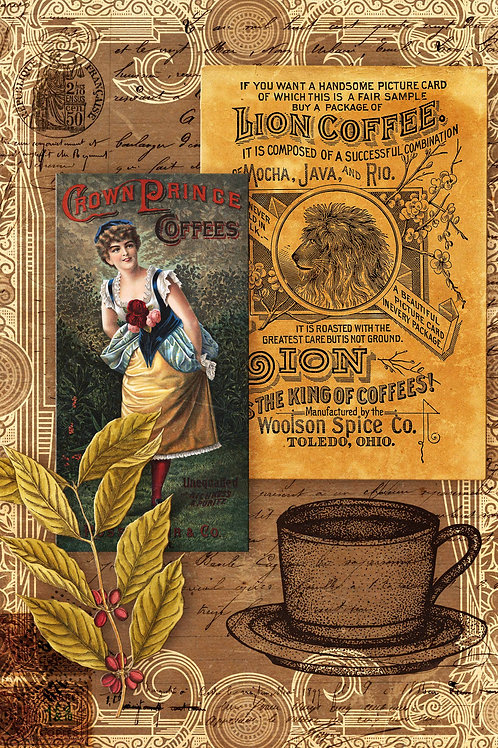 Morning Brew Coffee Collage Rice Paper