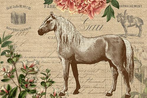 Vintage Burlap Horse