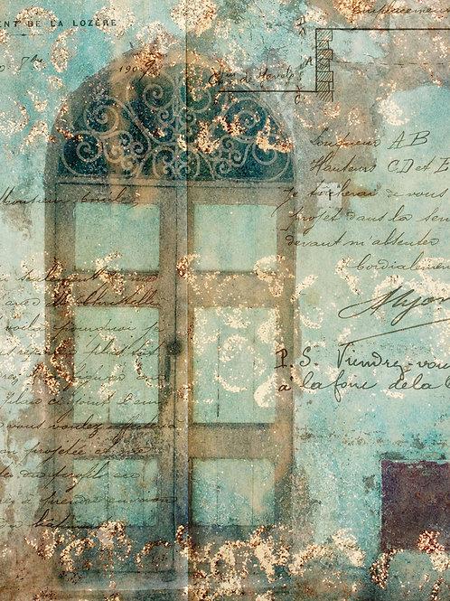 Antique Door with Scrollwork