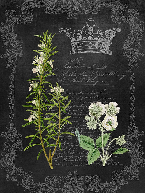 Rosemary and Wildflower Chalkboard