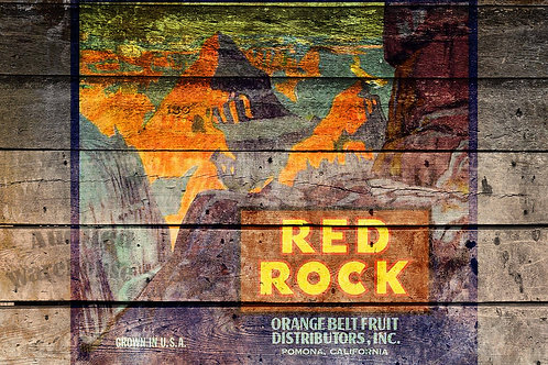 Red Rock Antique Crate