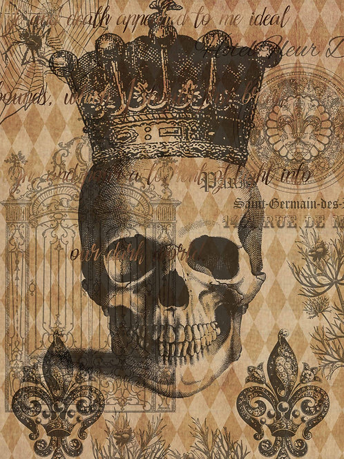 Halloween Skull with Crown