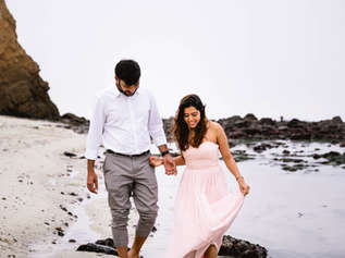 Care-free Moss Beach Engagement Session