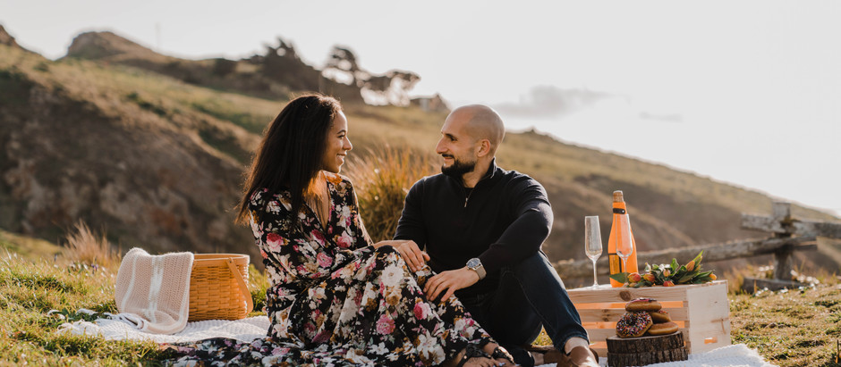 Point Reyes Picnic Engagement Session