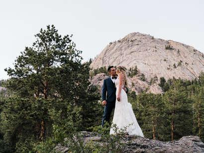 Heartfelt and Sincere Mountain Wedding