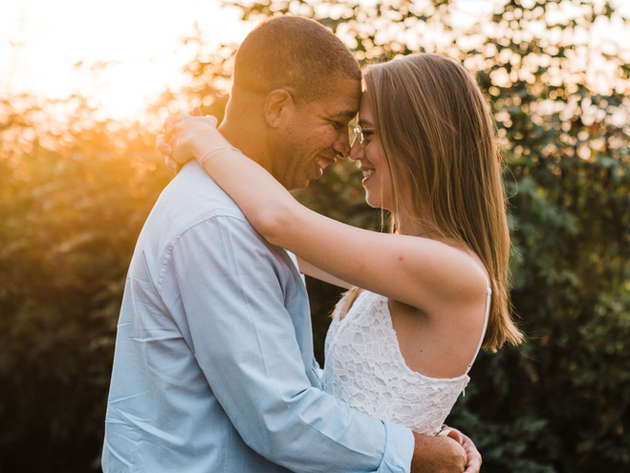 Intimate City Hall & Sunset Engagement Session
