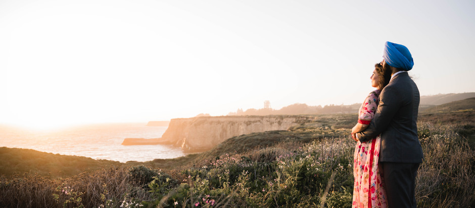 Stunning Highway 1 Sunset Engagement Session