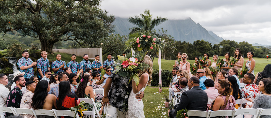 Epic Ko'Olau Ballroom Wedding by Kaneohe Photographer & Oahu Videographer - Lacey & Matt