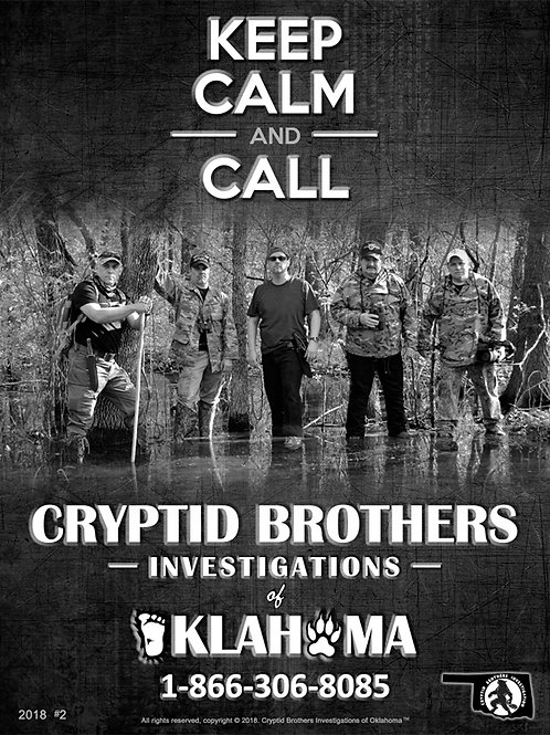 Cryptid Brothers Investigations Poster #2