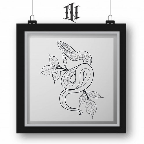 SNAKE/LEAF TATTOO