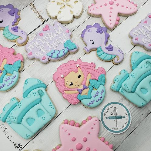 1 Dozen Mermaid Themed Cookies