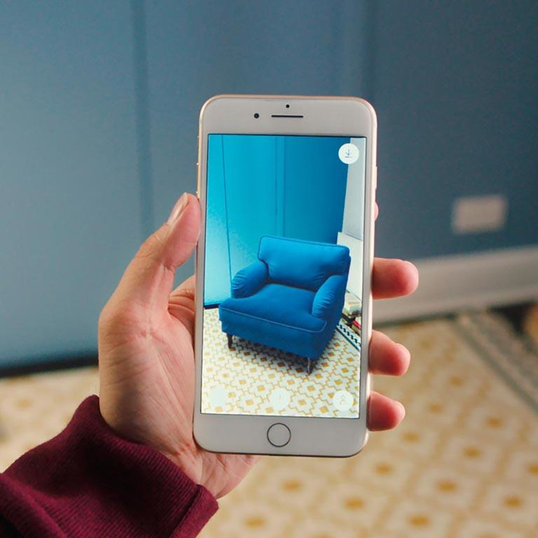 AR furniture app marketing