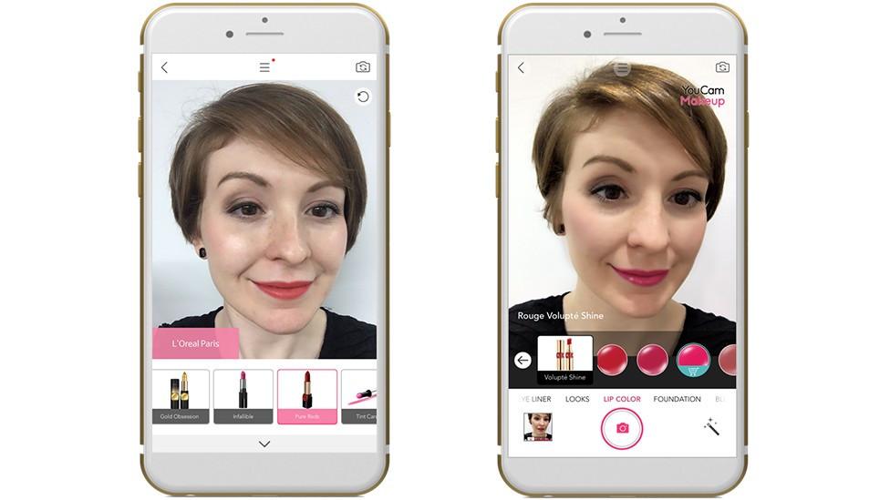 YouCam AR app makeup marketing