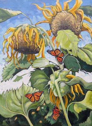 Butterflys & Sunflowers