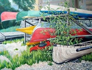 The Boats at Shuswap Lake