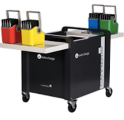 Chromebook cart of computers